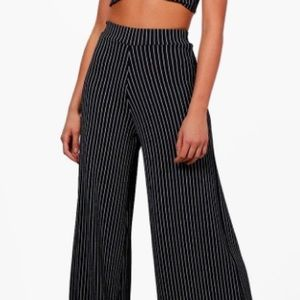 BooHoo tall collection pinstripe wide leg pants